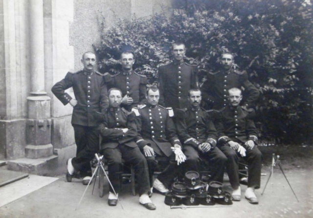 Group of French soldiers with Lebels