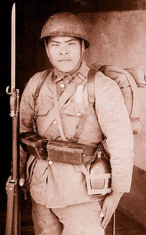 Another Japanese with Arisaka bayonet and ammo pouches