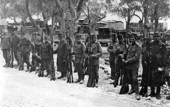 Serbian soldiers recovering on Korfu island WWI