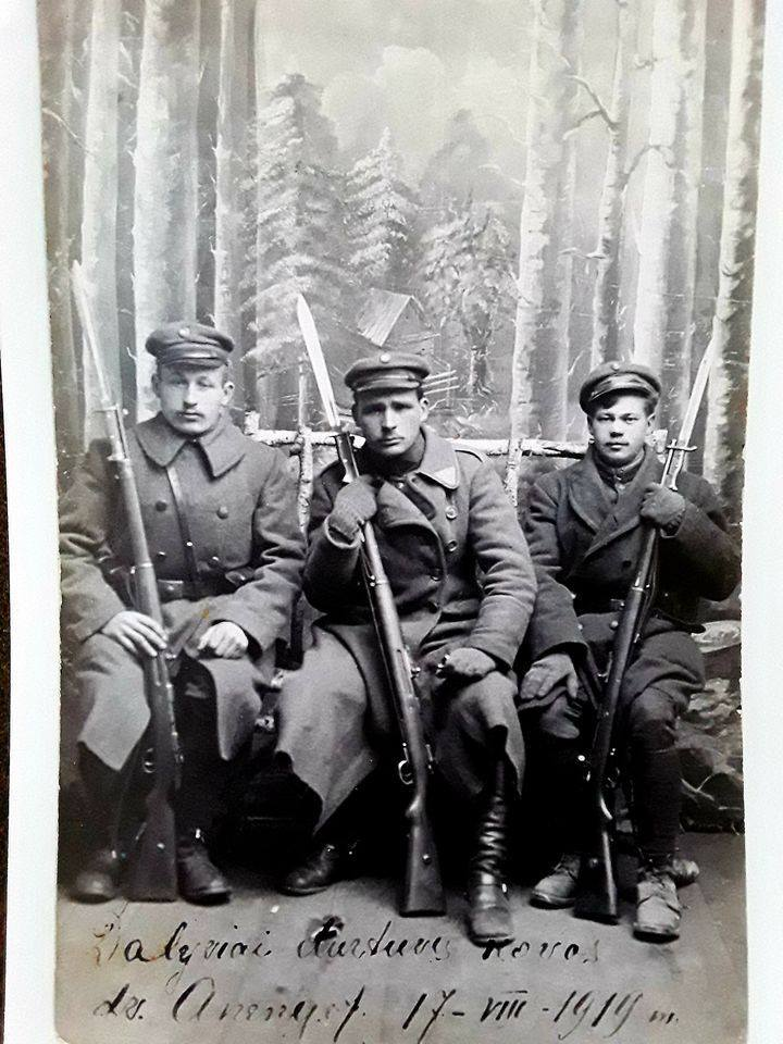 Lithuanian soldiers in 1919 with 98/05