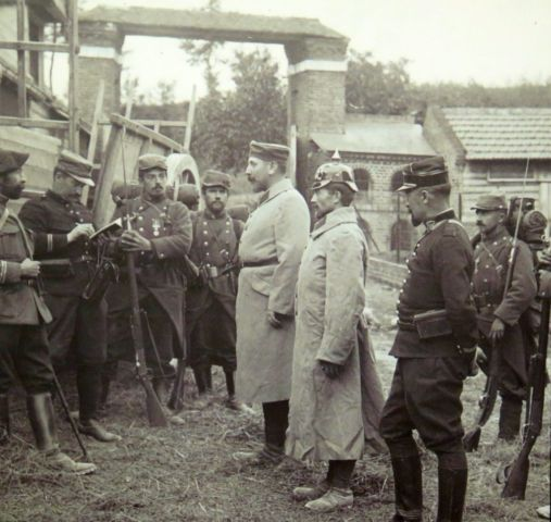 Prussian and French soldiers WWI