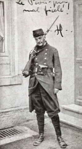 Sad French soldier with Gras?